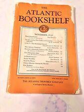 THE ATLANTIC BOOKSHELF, NOVEMBER 29, 1929