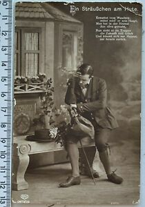 1900s Handsome Elegant Young Guy Dandy Man Antique Photo Postcard RPPC Portrait