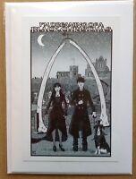 Whitby Goth Handmade Christmas Card • Steampunk