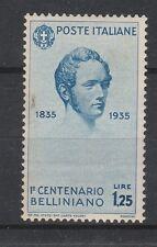 FRANCOBOLLI 1935 REGNO BELLINI L. 1,25 MNH Z/3299