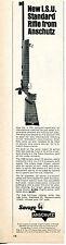 1968 Print Ad of Savage Anschutz Match 54 Model 1408 Rifle ISU Standard