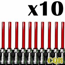 NEW LEGO - Weapon -  Star Wars - Light Saber x10 Trans Red - GENUINE LEGO