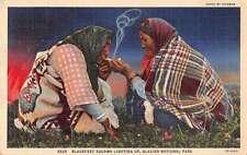 Glacier National Park Blackfoot Squaws Native Americana Antique Postcard J44943