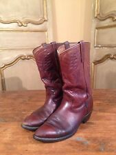 Vintage Mens Red Wing Motorcycle Harley Cowboy Western Boots Burgundy Size 9