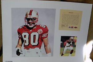 Jerry Rice San Francisco 49ers NFL11x14 Print Pro Football Hall Of Fame HOF A