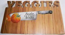 """Bamboo  Cutting Board 15.75"""" x 10""""  VEGGIES"""