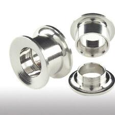 Túnel bollos oreja piercing Plug rosca interna 4mm-14mm