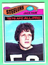 PERFECT CENTERING! 1977 TOPPS STEELERS JACK HAM #140 EX++