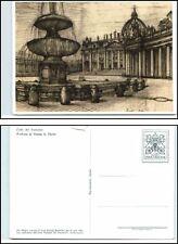 1977 causa tutta immagine cartolina postale Vaticano 120 LIRE UNGEL.