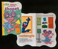 Sesame Street Beginnings Board Book ABBY'S FIRST BOOK OF SHAPES, Educational-NEW