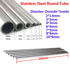 5Pcs Stainless Steel Capillary Round Tube L:250mm Dia:3*2/4*3/6*4/7*5/8*6/10*8mm