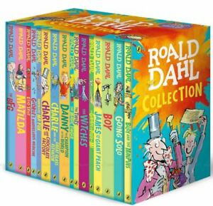 Roald Dahl Classic Collection Witches BFG Matilda George Marve - 16 Book Box Set