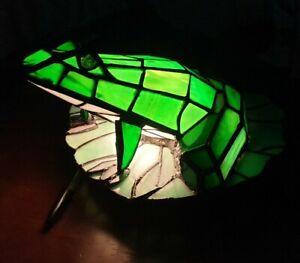 Tiffany Style Frog Table Lamp - Mains Powered