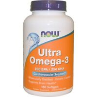 NOW Foods Ultra Omega-3 180 Softgels FREE SHIPPING. MADE IN USA