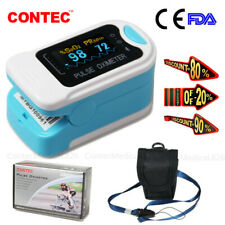 OLED Pulse Oximeter Finger Tip Clip Blood Oxygen Monitor SPO2 Lanyard Pouch,USA