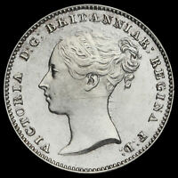 1843 Queen Victoria Young Head Silver Maundy Threepence