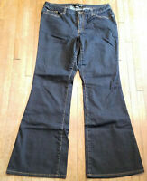 1403~EUC~Size 14 Tall Venezia Woman's Dark Wash Flare Leg Jeans-Lane Bryant