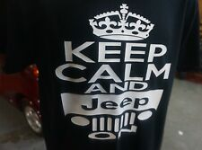 Keep calm and jeep on custom t-shirt graphic tee funny fun yj cj tj off road