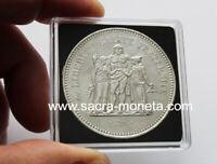 Capsules plastique Quadrum pour pièces de 50 francs Hercule
