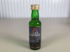 Mignonnette mini bottle non ouverte whisky clan campbell 5 ans d'ages