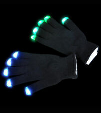 10 NEW Pairs of LED Flashing Fingertip Rave Gloves: Bulk Buy for Groups