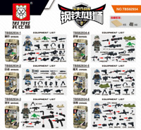 Spielzeug Toy Gift Militär Soldaten Waffen Heer Marine Luftwaffe Baukästen 6PCS