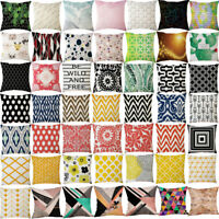 UK Home Decor Office Geometric Design Cushion Square Throw Pillow Cover Case