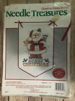 Needle Treasures Claus & Company Merry Christmas Banner Cross Stitch Kit Santa