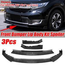 Carbon Fiber Look Front Bumper Lip Splitter Spoiler For Honda CR-V CRV 2017-2020