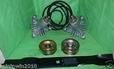 "42"" Mower Deck Rebuild Kit Fits Poulan Pro PR1842STC Pulleys Spindle (110)"