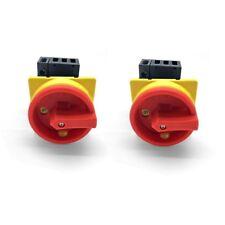 2x Hauptschalter 25A 4-polig fronteinbau Drehschalter 4P25A-E Schalter ARLI 25 A