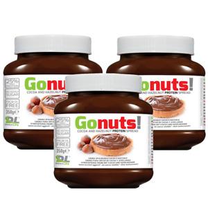 Anderson Go Nuts 3x 350 gr Cioccolata Proteica Spalmabile tipo Nutella GONUTS