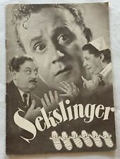 Sexlingar Thor Modéen Åke Söderblom Margit Manstad Vtg 1942 Danish Movie Program