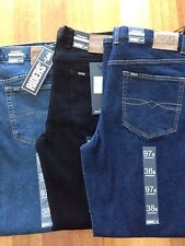 Riders by Lee jeans, men's stretch straight Black Size: Waist 30-48 Length 79