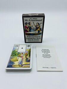 Piatnik No 194115 Mlle Lenormand Wahrsagekarten von 1986 Cartomancy Deck