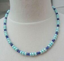 Halsketten und Anhänger im Collier-Stil mit Tansanit Echtschmuck