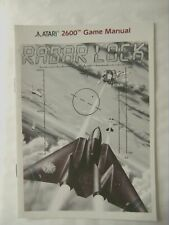 58408 Instruction Booklet - Radar Lock - Atari 2600 / 7800 (1992)