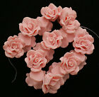 10 xHandmade Polymer Clay Beads, Flower,Pink, Size: about 25mm wide 16mm