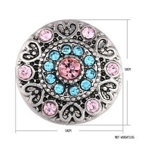 3DCrystal Chunk Charm Snap Button Fit For Noosa Necklace/Bracelet NSKZ131