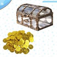 Piratenschatulle Schatztruhe Truhen Transparente Aufbewahrungsbox mit Goldmünzen