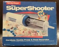Hamilton Beach 80000 Cordless Cookie Press Super Shooter Complete in Box Heart