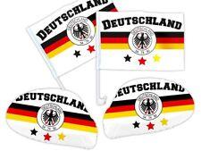 4 tlg. Deutschland DE-03 WM Fanset Fanpaket Autoflaggen Spiegelüberzug Autofahne