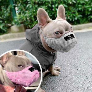 Soft Breathable Dog Muzzle Mesh Pet Mouth Muzzles No Barking Chewing Biting XS-L