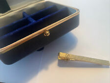 Vintage Westinghouse Anson Tie Clip Service Award 5 Years Gold with jewel box