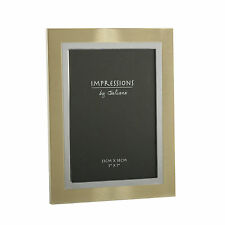 "Impressions by JULIANA 2-Tone Brushed-Gold/Silver - Finish PHOTO Frame - 5"" x 7"""