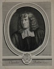 "Burin de Jacques LUBIN ""Claude Ballin orfèvre"" XVIIe siècle"