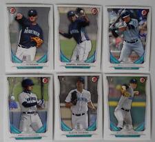 2014 Bowman Draft Seattle Mariners Team Set 6 Baseball Cards