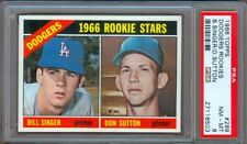 1966 TOPPS #288 DON SUTTON ROOKIE DODGERS PSA 8