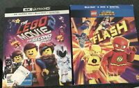Lot 2 Lego Movies The Flash Blu-ray Dvd Digital The Second Part 4K Ultra Blu-ray