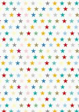 2 Sheets Gift Wrapping Paper MULTI STARS Birthday Female Male Mens Ladies Teen